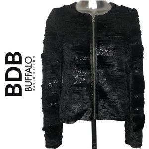 BDB Buffalo David Bitton Faux Fur Zipper Jacket